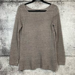 Vince // Taupe Beige Open Knit Sweater